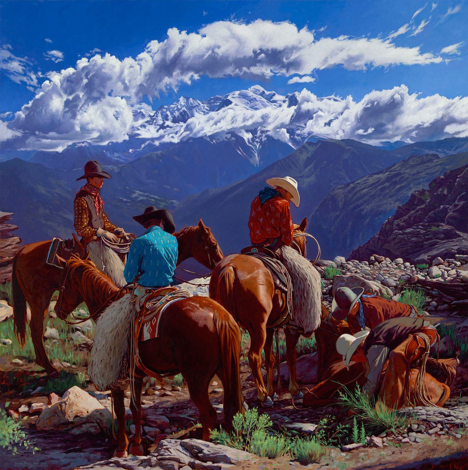 Mark Maggiori Maxwell Alexander Western Art Collector Cowboy