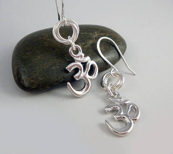 Unusual Silver Earrings Dangle French Wire Drop