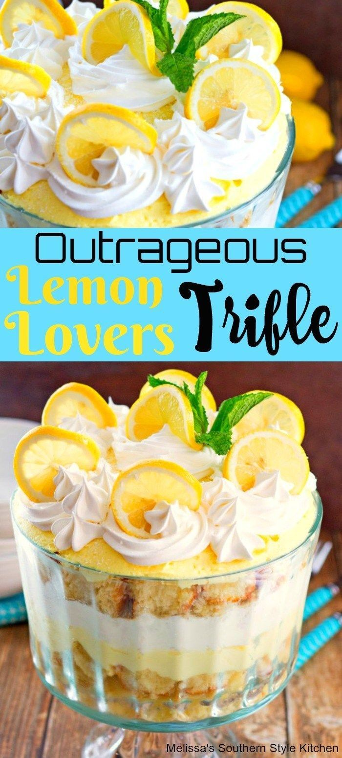Outrageous Lemon Lovers Trifle -