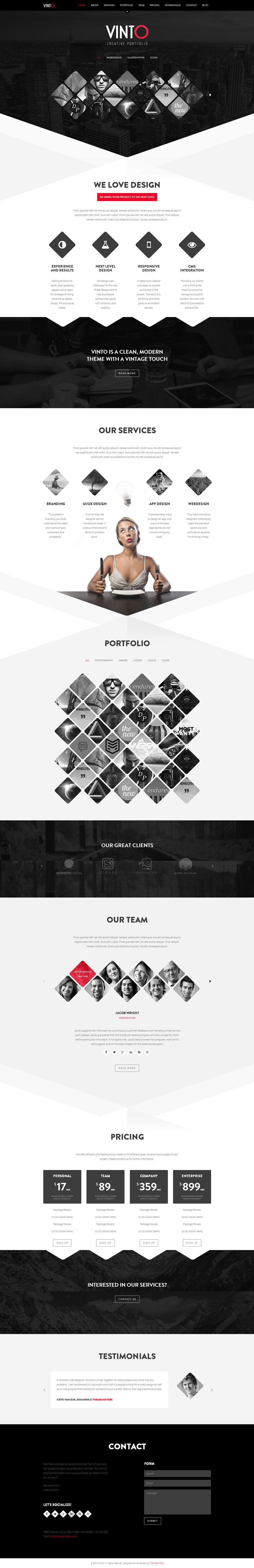 Pinterestfra webdesign contrast shape creative black
