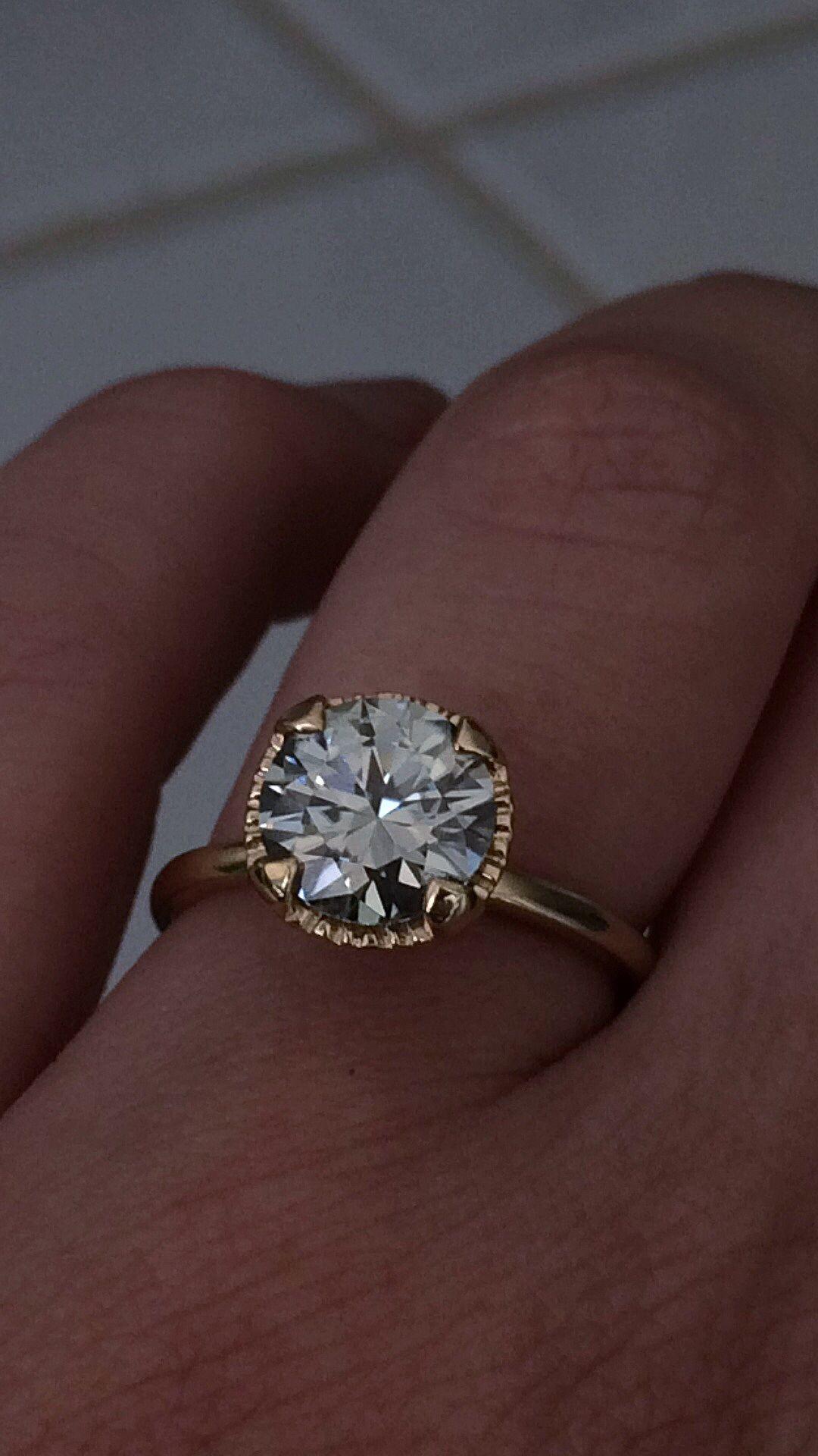 Ebay Moissanite Set And Obsessed Weddingbee Grey