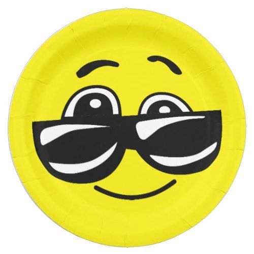 Explore Smiley Faces Paper Plates and more!  sc 1 st  Pinterest & Sunglasses Cool Smiley Face Funny Emoticon Party Paper Plate