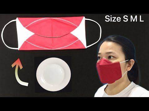 Photo of NEW version – NO FOG ON GLASSES – DIY Simple fabric 3D face mask sewing tutorial, is very fast &easy