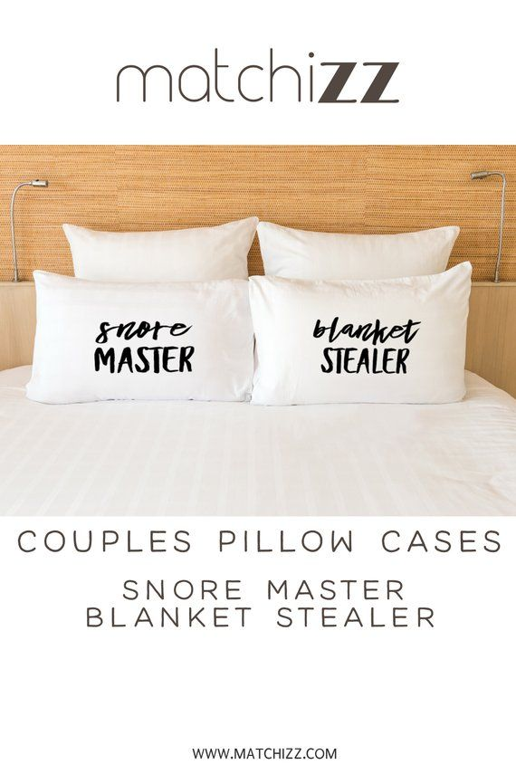 Couples Pillow Case, His Hers Pillowcases, Blanket Stealer, Snore Master, Couples Gift, Funny Pillowcases, Couples Pillowcases, Lovers Gift