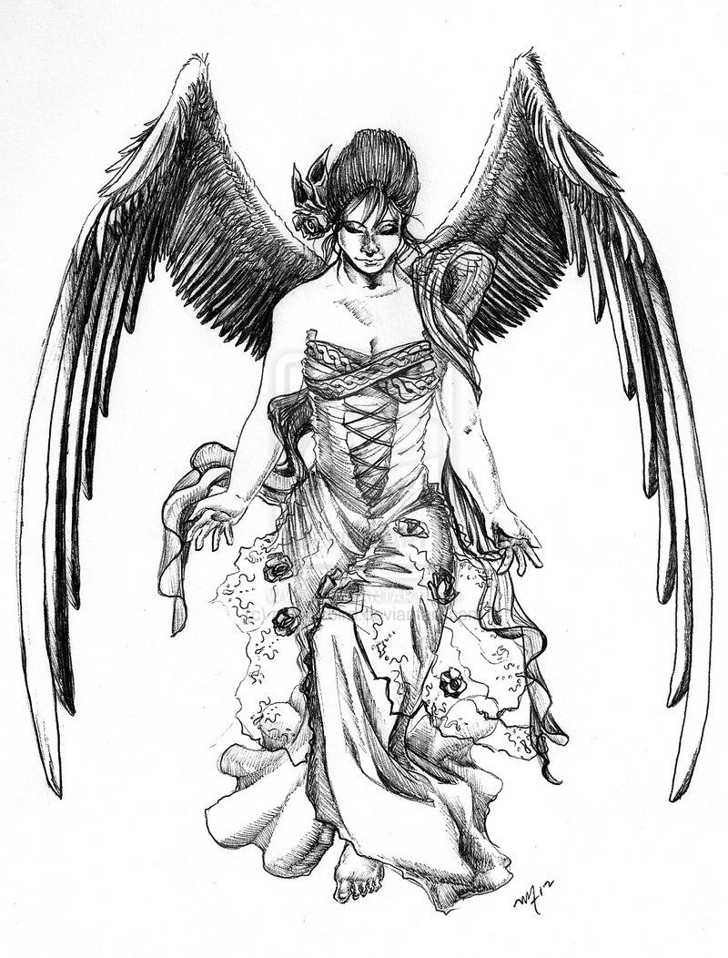 Ange Gardien Protecteur Tatouage dessin tatouage ange gardien mg6re3zs | tatouage ange