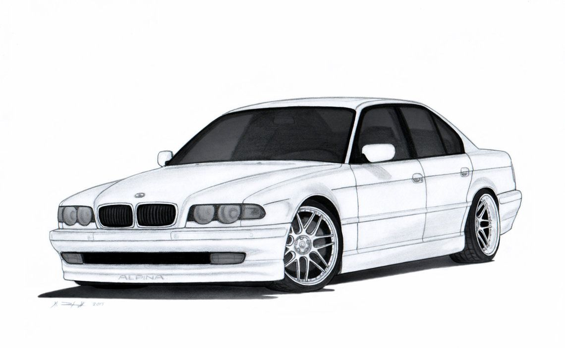 Bmw 740i E38 Drawing By Vertualissimo Deviantart Com On