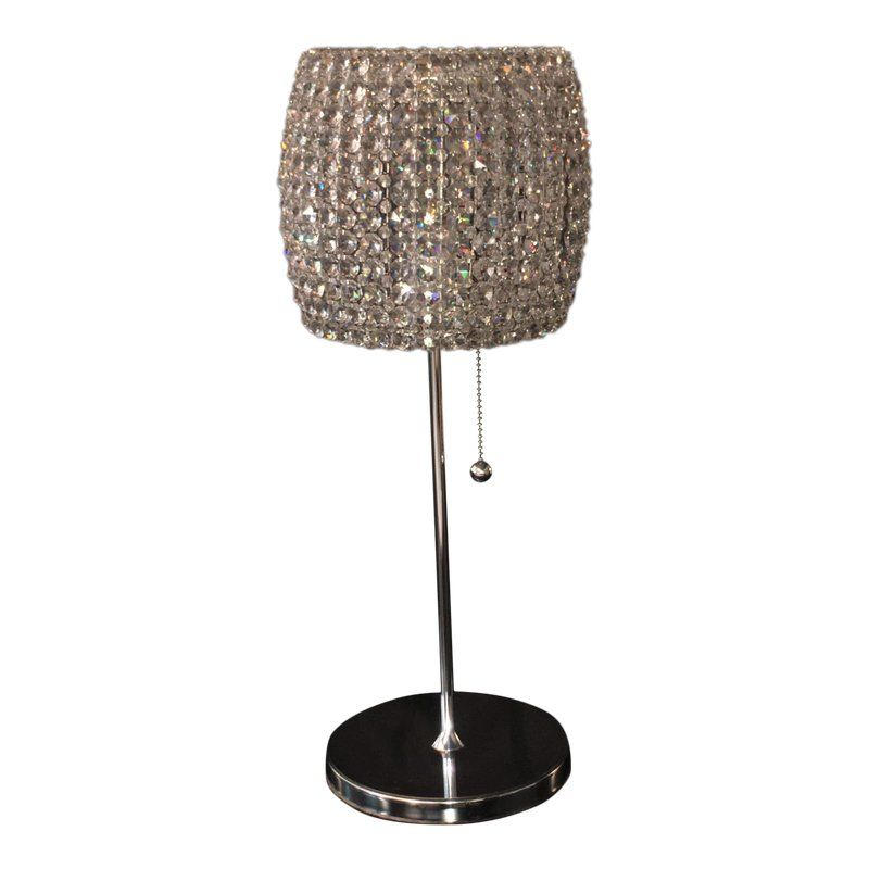 Schonbek Fr Dionyx Collection Swarovski Crystal Table Lamp