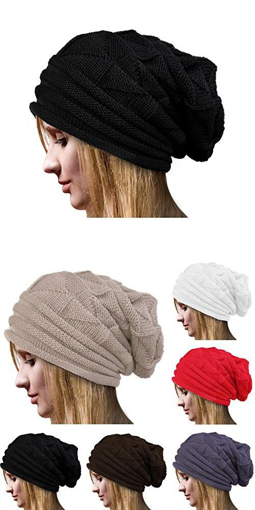 ccd7d01a299ca8 Connectyle Women 's Warm Bill Winter Hats Slouchy Cable Knitted Beanie Cap  with Visor Newsboy Cap Black, 55 60cm | Skullies & Beanies | Pinterest |  Newsboy ...