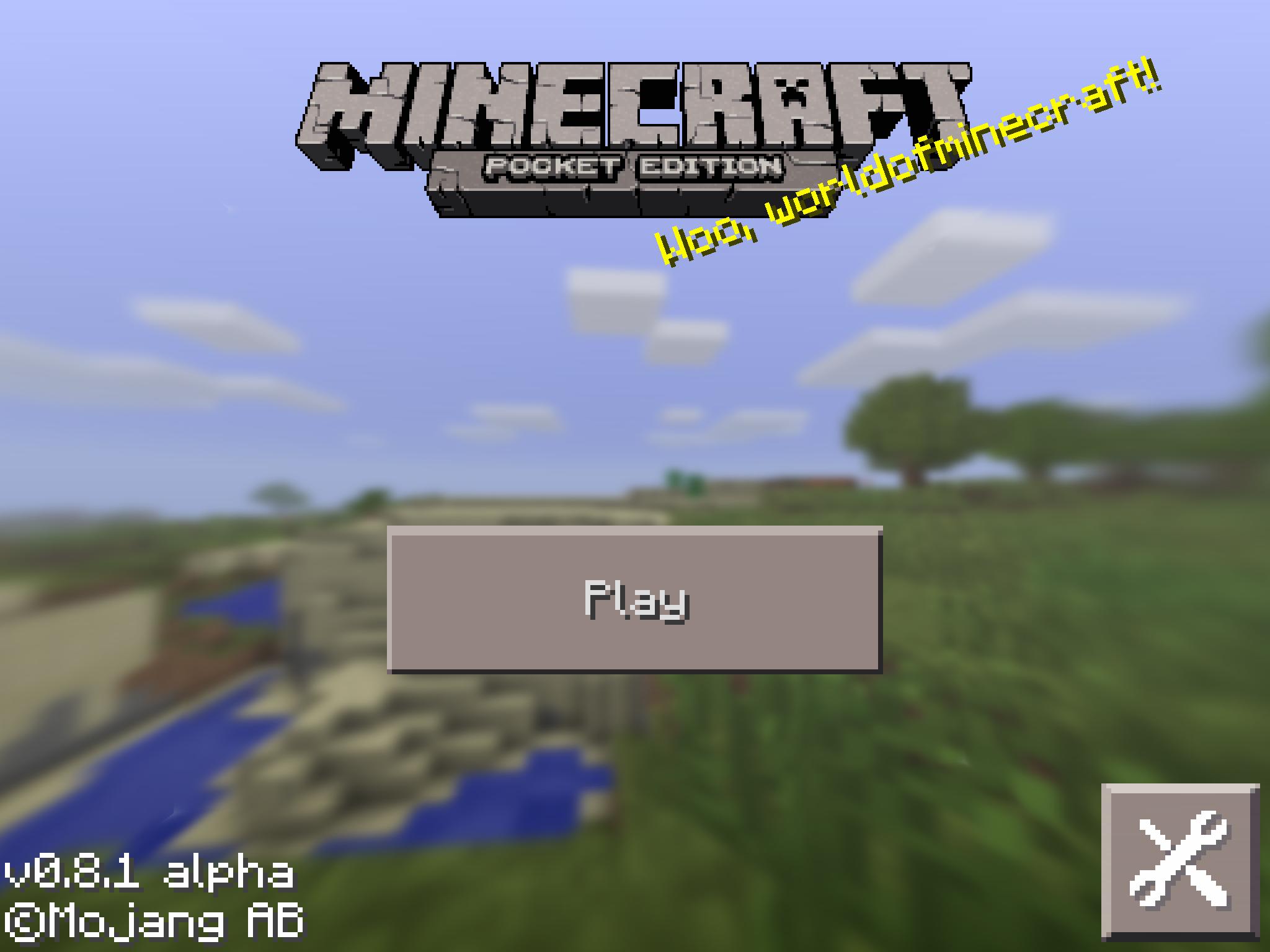 Minecraft tillsammans på iPad