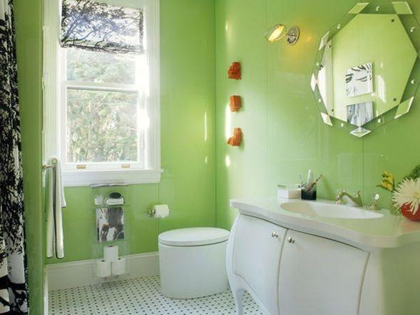 Estupendas Fotos De Banos En Color Verde Como Decorar Banos