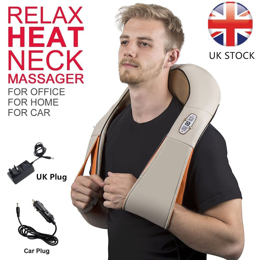 Electric Shiatsu Kneading Neck Shoulder Body Massager With