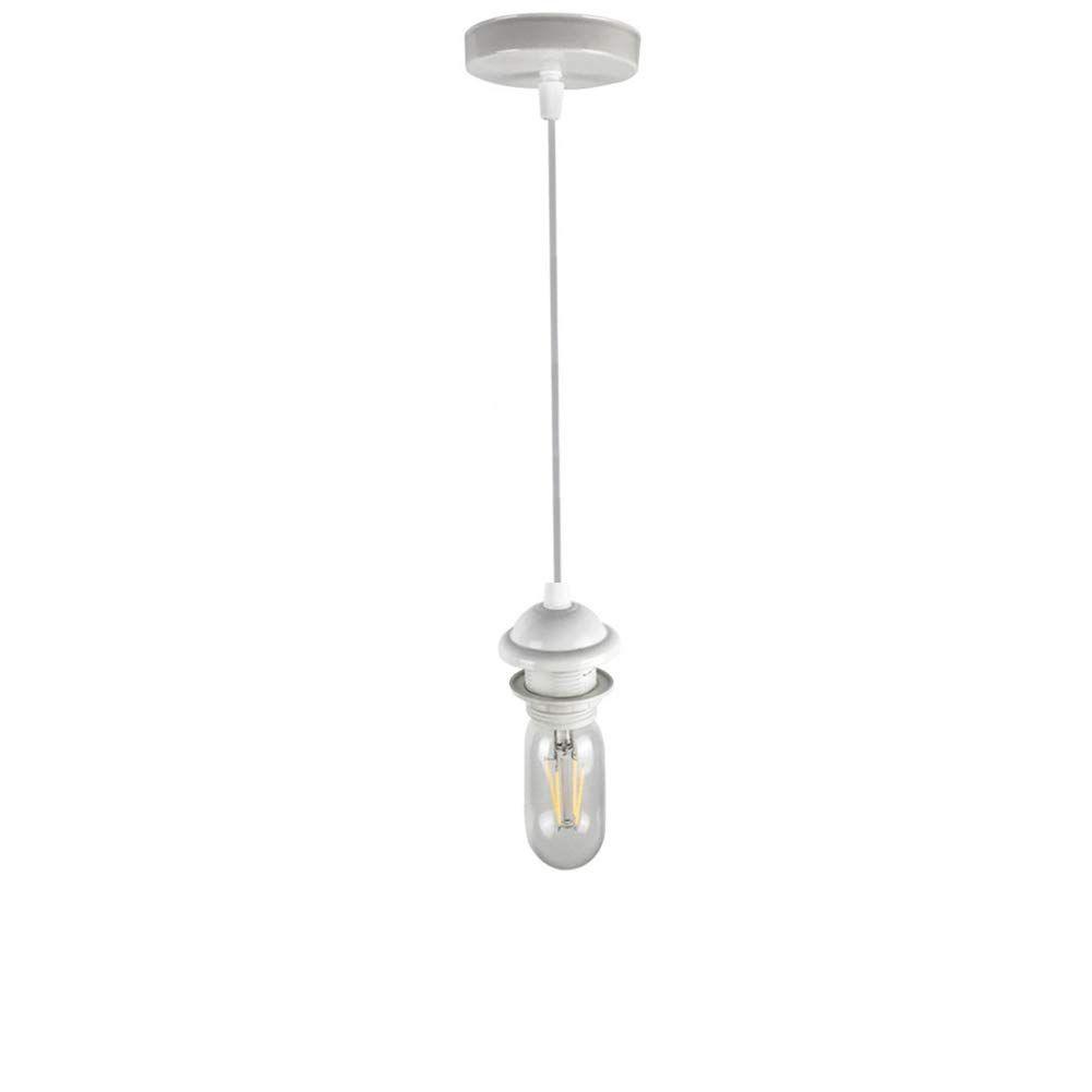 Jorunhe Ceiling Light Pendant Fitting Vintage Retro Modern E27 Lamp Holder Suspension Ceiling Pendant Light Fitting Kit White In 2020