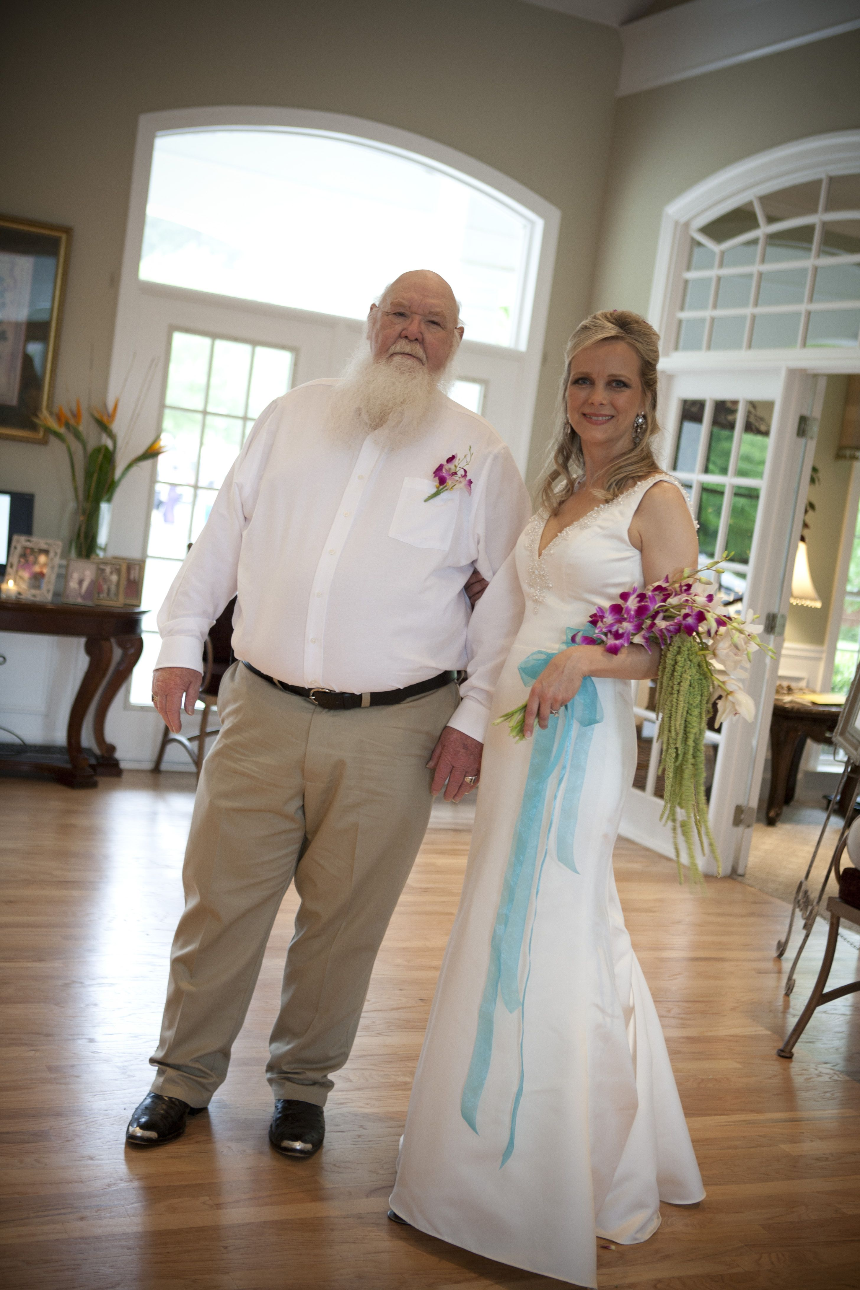 Father of the bride white shirt with tan casual pants