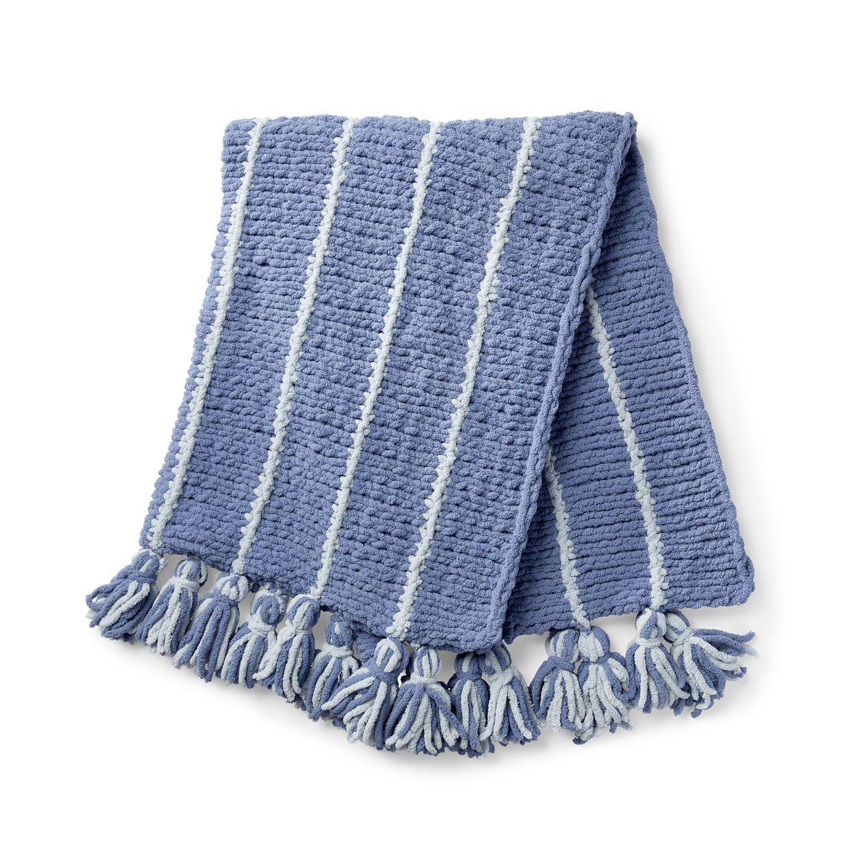 Bernat Pinstripe Knit Afghan Pattern | Yarnspirations ...