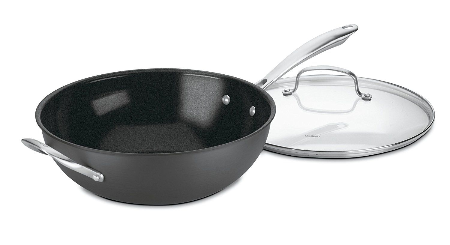 Cuisinart Gg26 30h Greengourmet Hard Anodized Nonstick Stir Fry Wok With Glass Cover You Can Find More Det Stir Fry Wok Hard Anodized Cookware Stir Fry Pan
