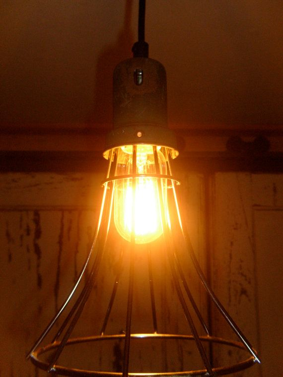Modern Wire Cage Pendant Light by AthensRelight on Etsy, $85.00