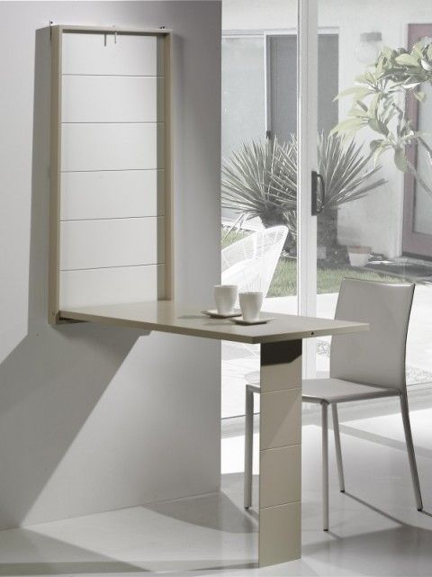 Mesas ahorrar espacio | cocina | Folding table desk, Smart furniture ...