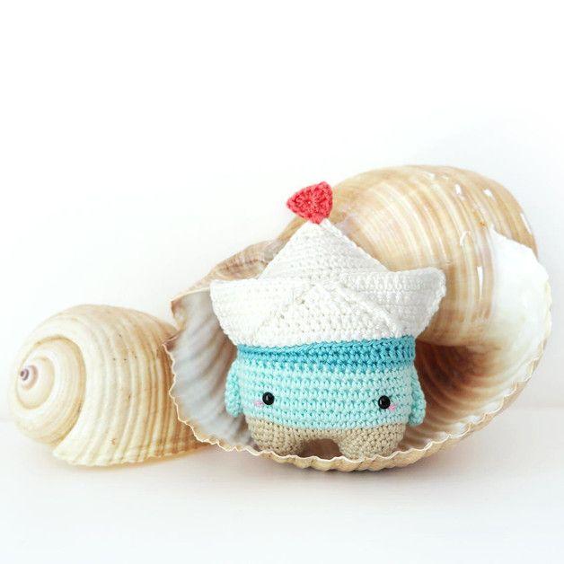 barquito de papel FIETE lalylala patrón de crochet | Origami