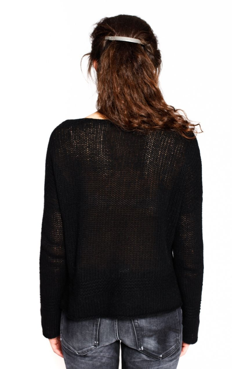 Black Isabelle Sweater from 360 Sweater