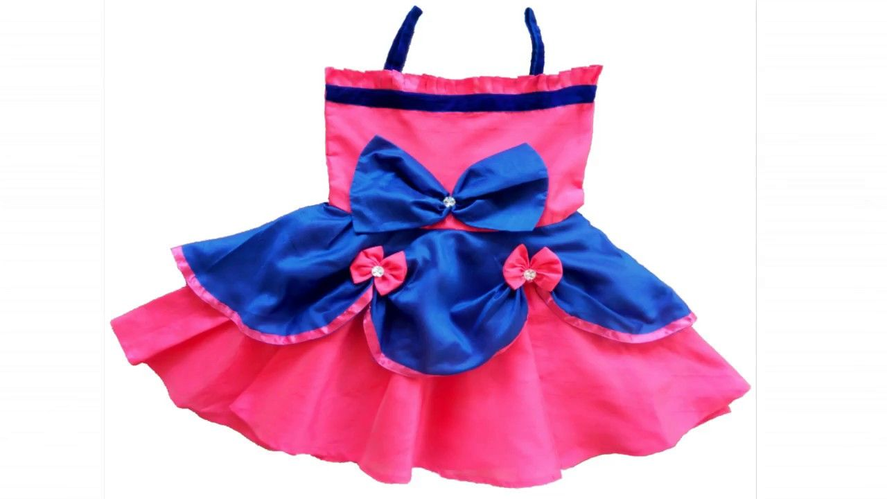 47d0669b8d90eb Beautiful Baby Girl Designer Frock Cutting and Stitching (DIY ...