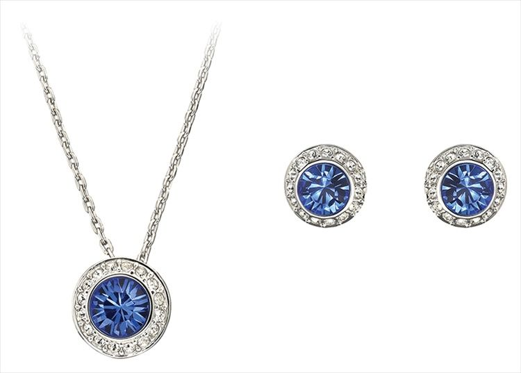 Swarovski Angelic Sapphire Set Swarovski Angelic Sapphire S 145 00 Sapphire Pendant Swarovski Bracelet Jewelry