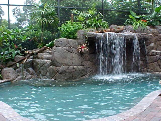 Diy In Ground Swimming Pool Waterfalls Backyard Pool Waterfall