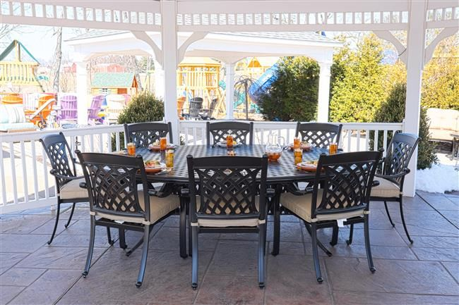 Oval Patio Table Set L Green Acres Outdoor Living In Pa And Nj
