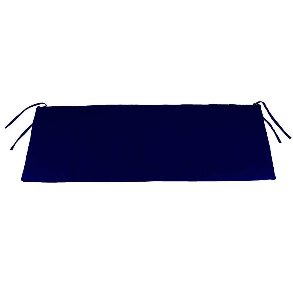 Weather Resistant Outdoor Cushion For Swing Bench 36 X 16 Midnight Navy Plow Hearth