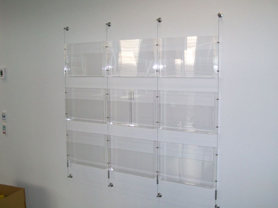 wall mounted literature rack and brochure holder www ...