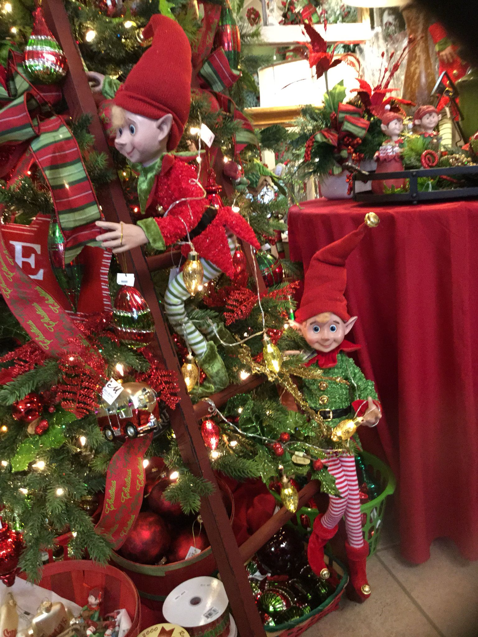 Elf Tree Love Counseling Services Ceciliacarroharvey Org Elf Christmas Decorations Elf Christmas Tree Vintage Christmas Tree Decorations