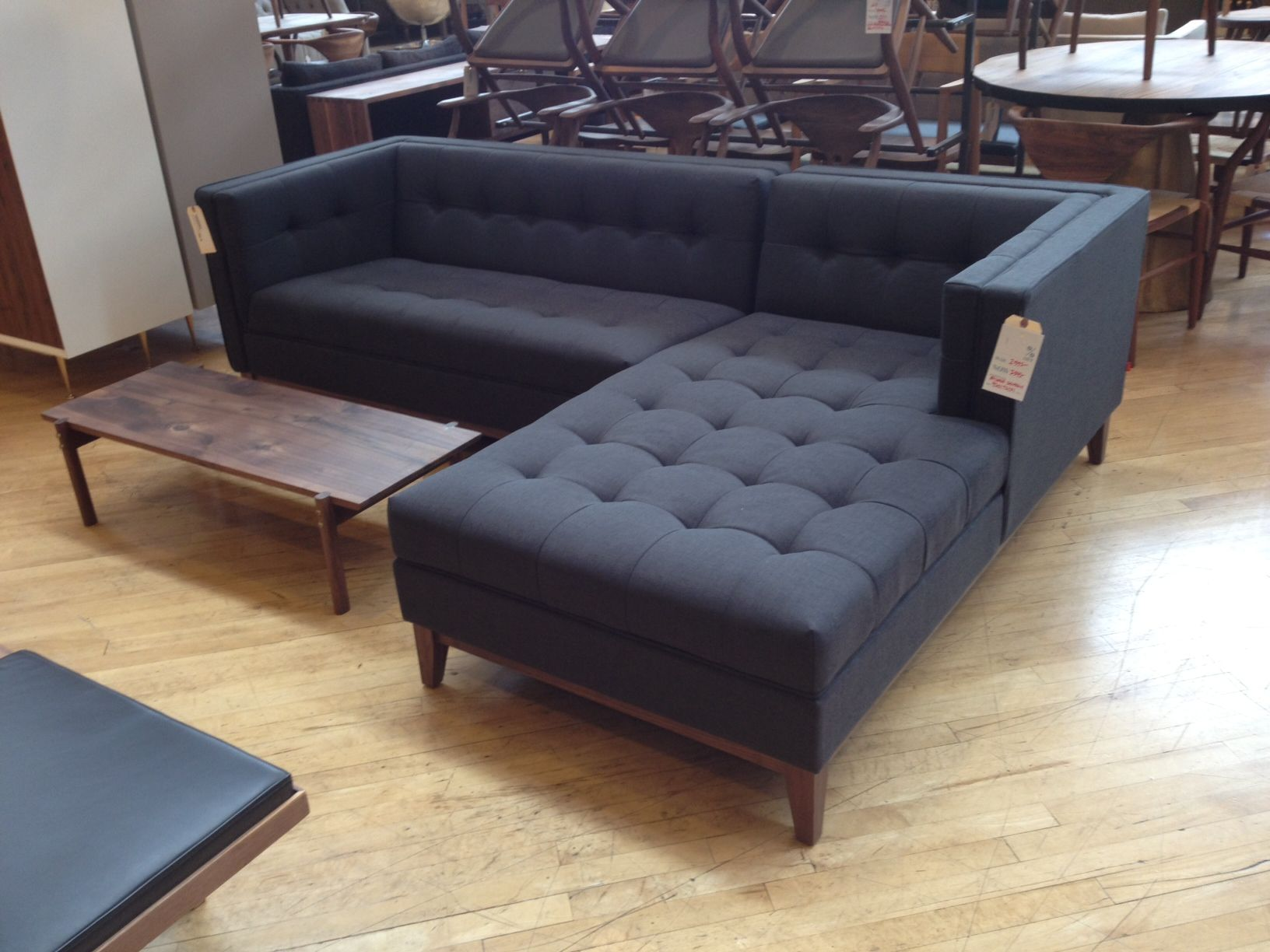 10 Non Ugly Sectional Sofas - pinned from Hommemaker.com : navy sectional sofa - Sectionals, Sofas & Couches