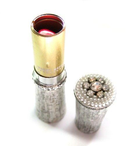 17c8e6abfef Silver Pearl Rhinestone Lipstick Tube - Vintage Revlon 582   Things ...