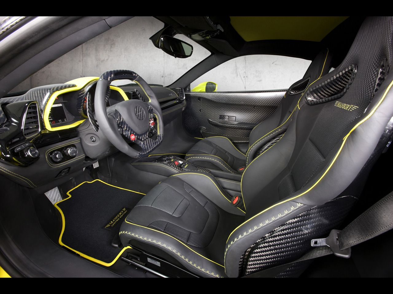 Ferrari 458 Italia Black And Yellow Interior And Carbon Fiber