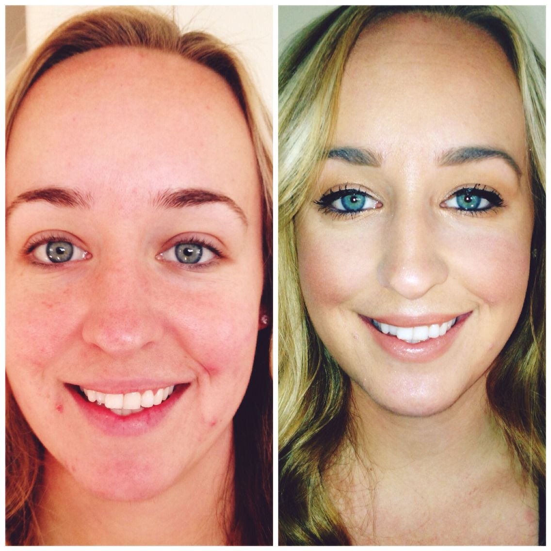 Before & after using all nontoxic makeup & skincare