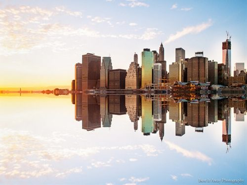 Reflection of Manhattan at sunset - December 2012Bust it Away I...