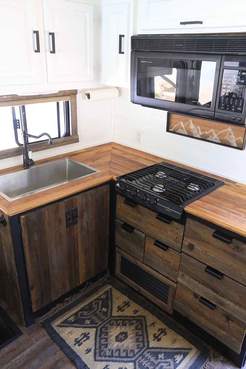 Miraculous Rustic Modern Rv Kitchen With Reclaimed Wood Rvs Camper Download Free Architecture Designs Scobabritishbridgeorg