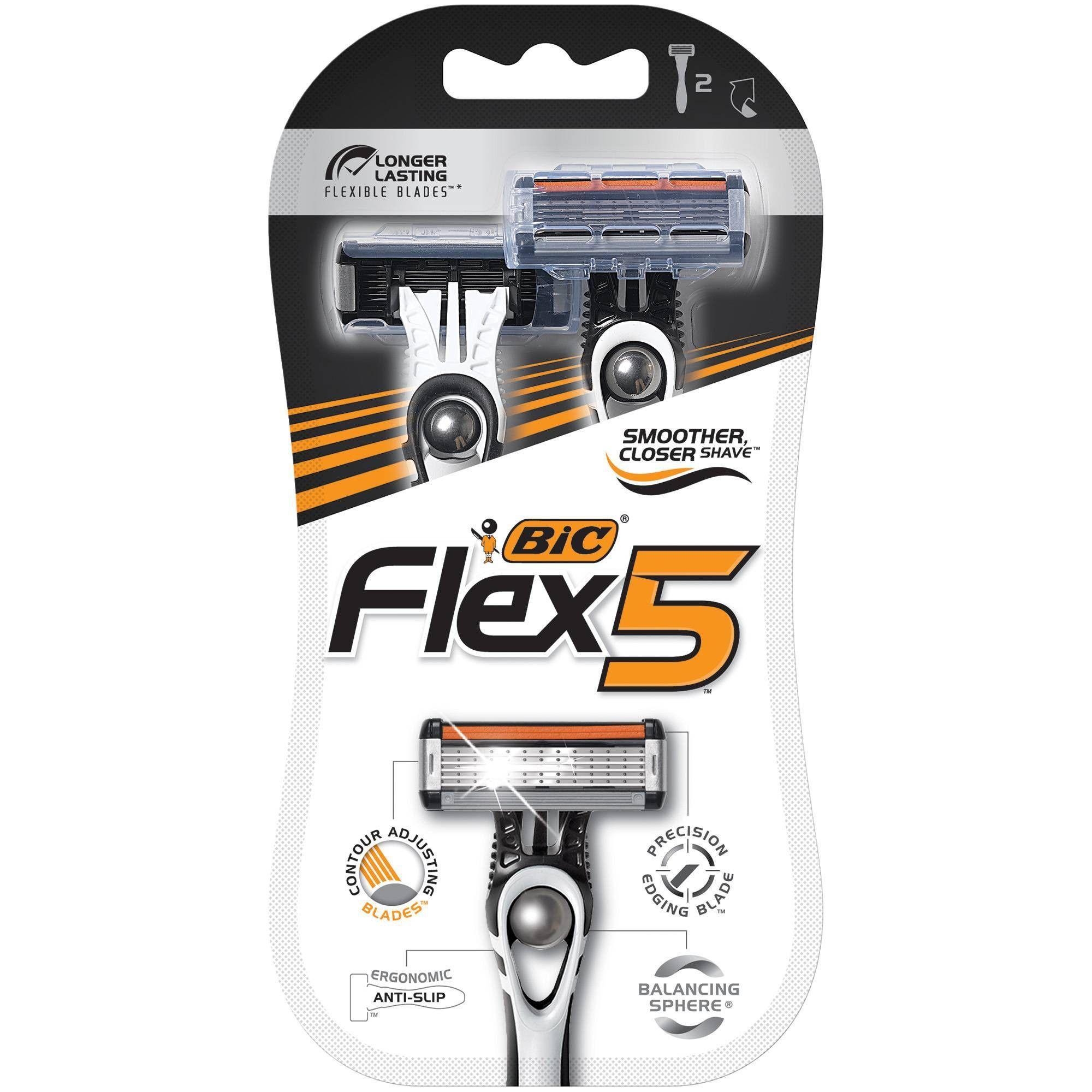 BIC Flex 5 Five Blade Disposable Razor 2ct