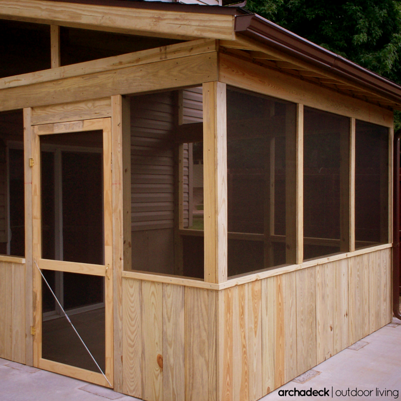 With A Smaller Level Yard, A Screened Room Over An
