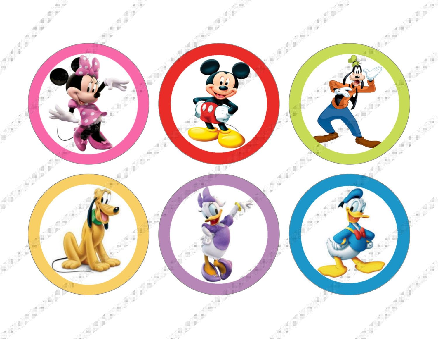 Disney Mickey Mouse Clubhouse Custom Birthday Party 3 Inch Circle L Mickey Mouse Clubhouse Birthday Mickey Mouse Clubhouse Birthday Party Mickey Mouse Birthday