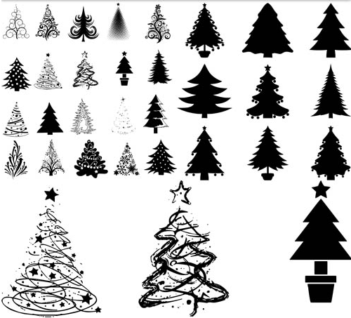 Free vector christmas tree silhouette Silhouette