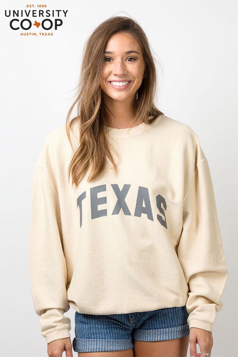 Chicka D Texas Corded Sweatshirt Texas Style Clothing Crewneck Sweatshirt Outfit Sweatshirts [ 1200 x 800 Pixel ]