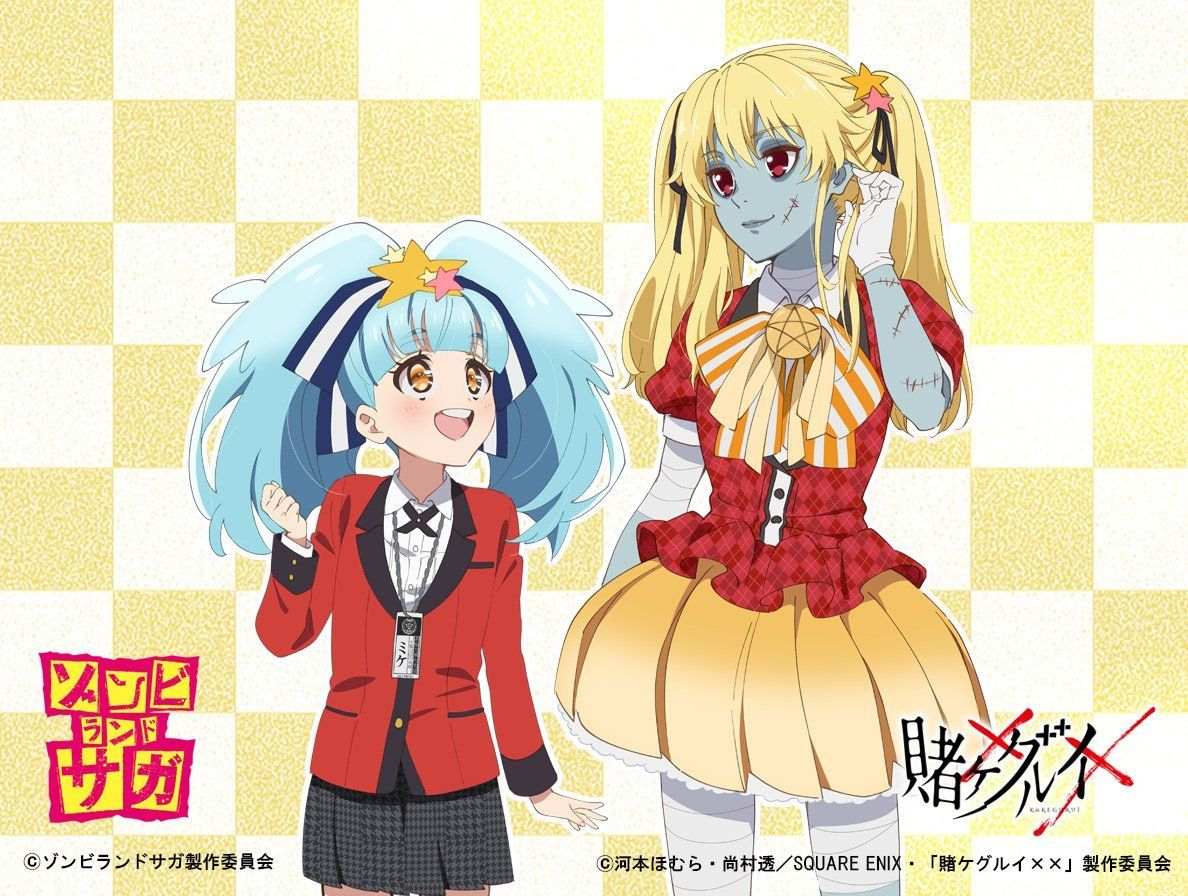 tvアニメ 賭ケグルイ 公式 on twitter latest anime zombie land saga cute zombie