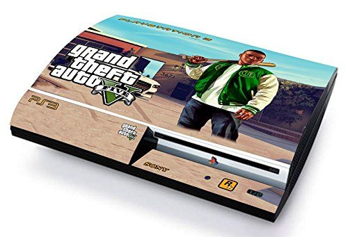Gta v grand thef auto 5 franklin skin cover ps3 fat hd limited edition decal cover