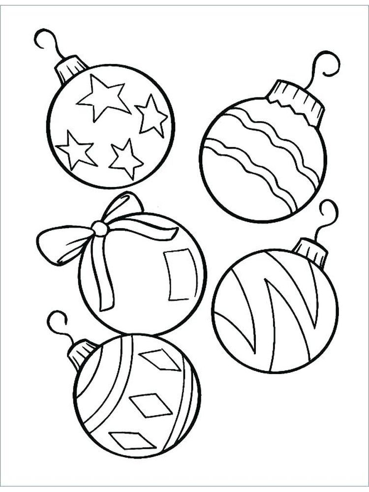 Xmas Ornaments Coloring Pages