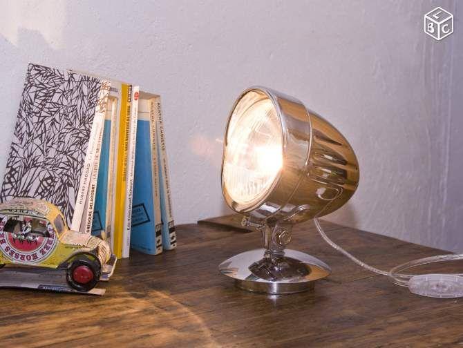lampe artisanale industrielle phare de moto d coration val de marne id es. Black Bedroom Furniture Sets. Home Design Ideas