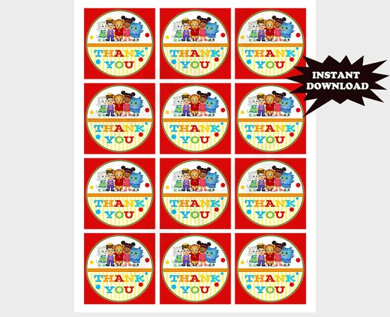 INSTANT Download Printable Daniel Tiger Birthday by ...