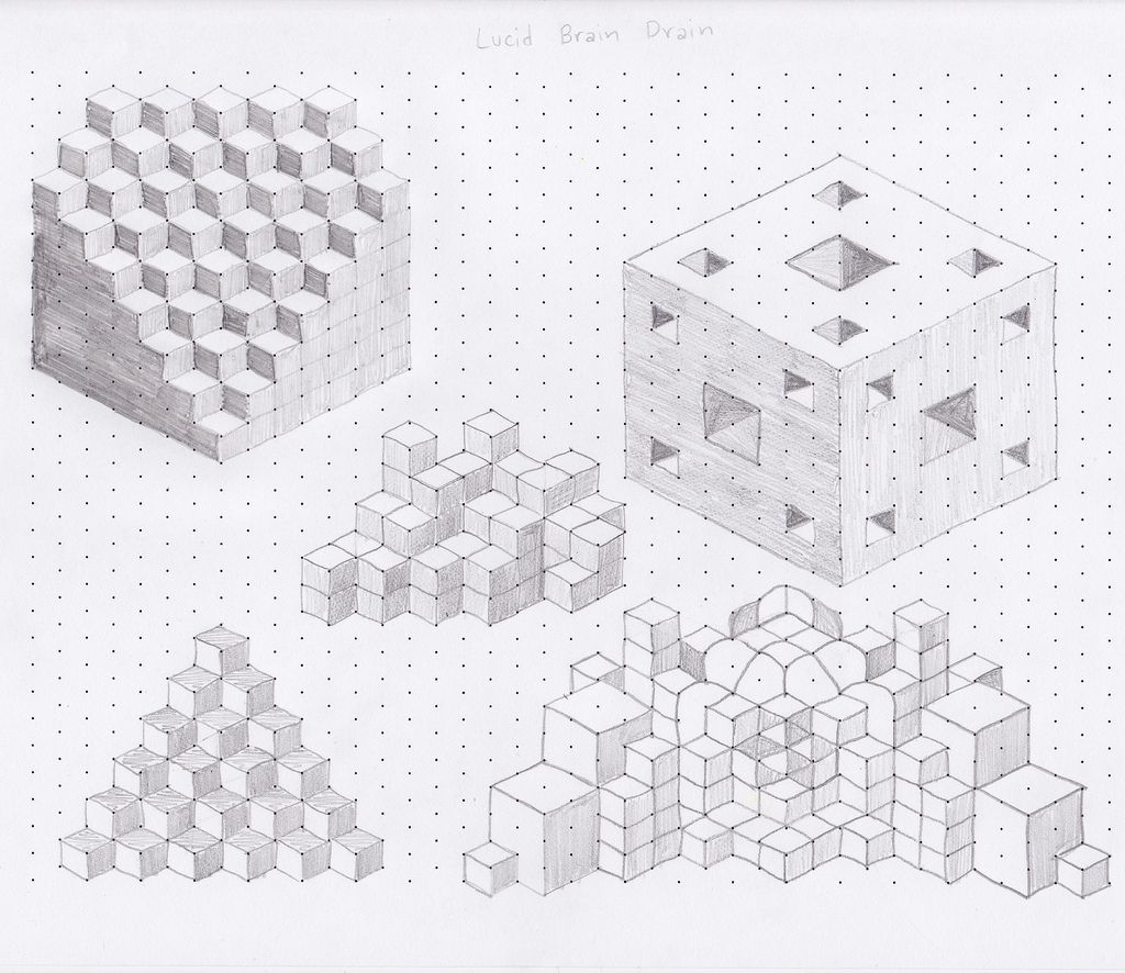 Lucid Brain Drain  Drawings Isometric Shapes And Isometric Art