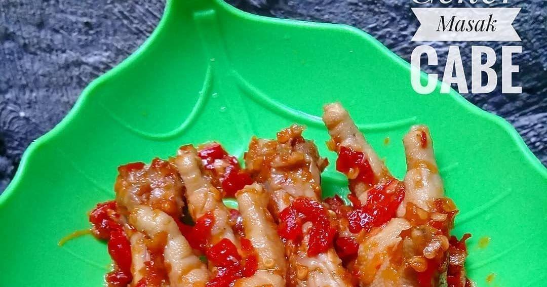 Resep Ceker Balado Super Pedas By Moezandra Resep Masakan Indonesia Resep Masakan Masakan