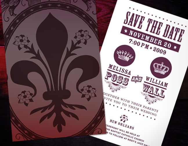new orleans wedding invitations - New Orleans Wedding Invitations