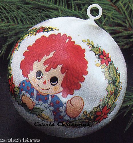 Christmas Tree Ball Ornament 1989 Grandparents Hallmark Ornament White Glass Ball